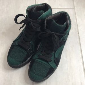 Lanvin High Top Cap Toe Sneaker